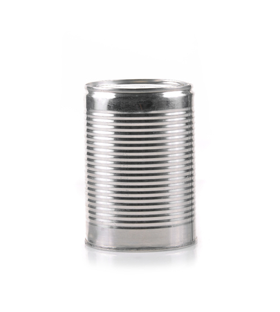 sardine can: Canned food isolated on white