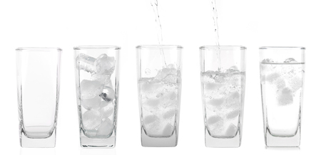 glass of water isolated on white Stock Photo