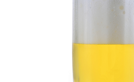 un bottled: beer  isolated on a white background
