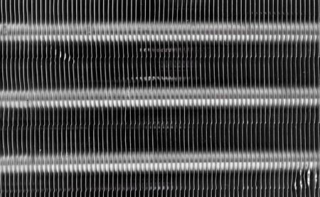 condenser: Car air conditioning condenser texture, automotive aluminium condensing cooling coils unit Stock Photo