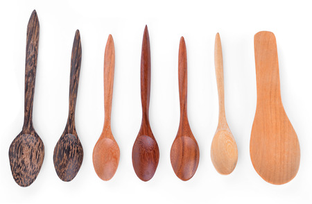 turner: Wooden spoons on white