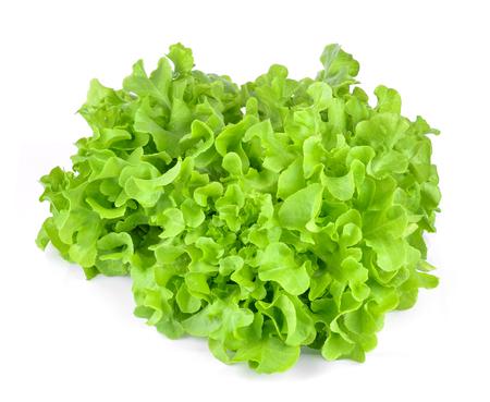 Vegetables Green Oak  isolated on white.
