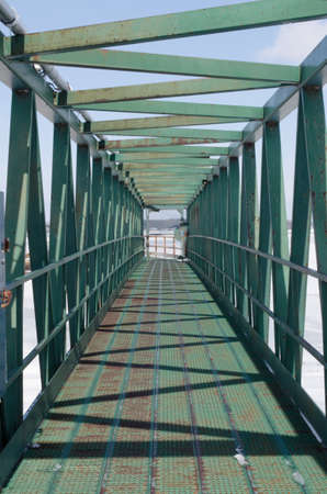 fluvial: green walking bridge