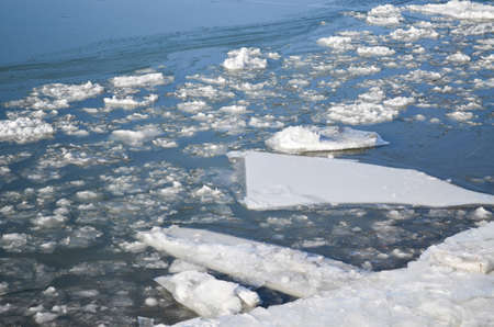 fluvial: ice on the St. Lawrence River