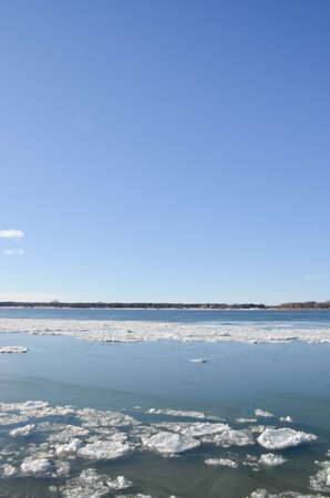 fluvial: iced St.Lawrence River Stock Photo