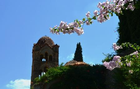 mani: Church detail in Mani, Greece
