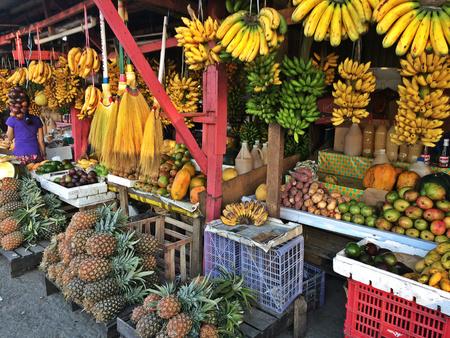 Owocowy kram w Tagaytay, Filipiny Zdjęcie Seryjne