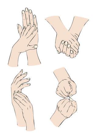 avuç: eller Çizim