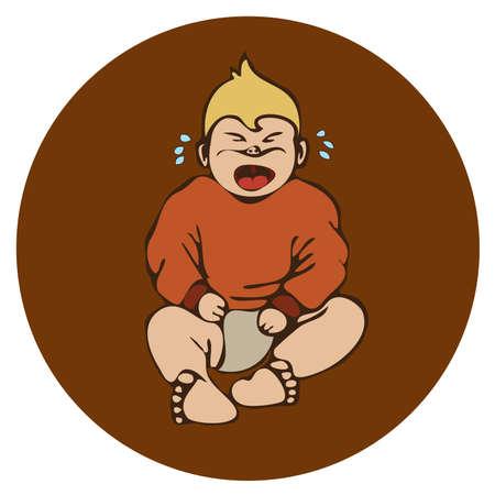 sick people: baby