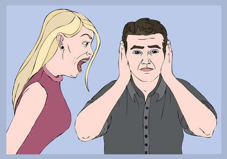 scold: quarrel couple