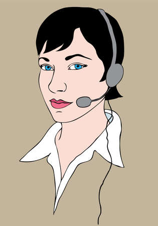 call center agent: telemarketer, calling a young pretty woman