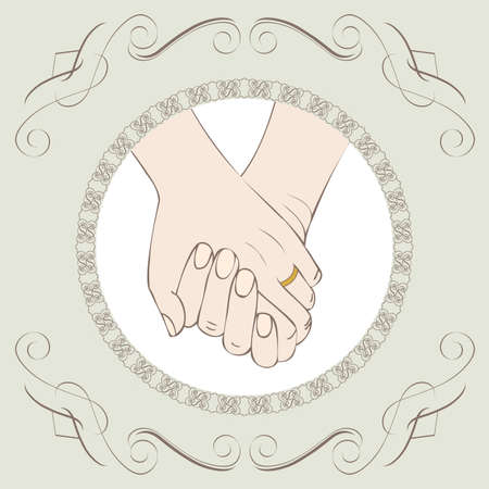 Postales Amor, tarjeta de felicitación o invitación de la boda Foto de archivo - 12495134