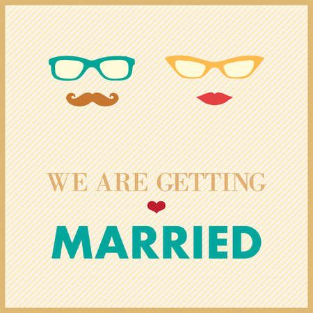 wedding invitation card template, couple Stock Vector - 21016856