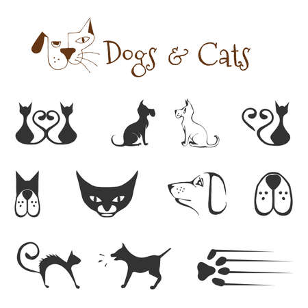 dog ears:  dogs and cats  Illustration
