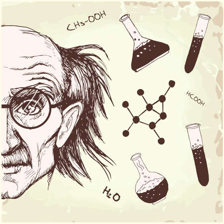 professor of chemistry  Vector