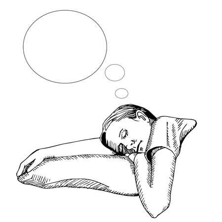 mujer acostada en cama: ni�a duerme en el dormitorio
