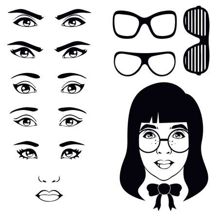 oculist: eye set, girl character