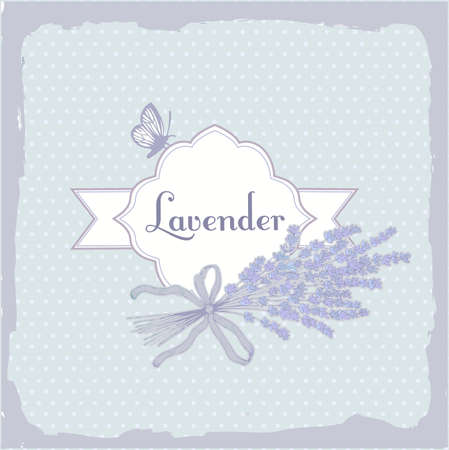 caligraphy: Lavender, herb, flower, floral vintage, packaging  background