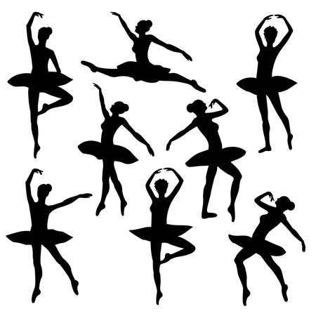 gimnasia: figura bailarina silueta bailarina ballet Vectores