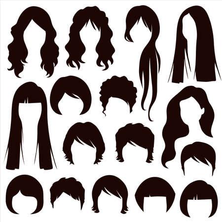 long hair woman: siluetas de pelo, la mujer del peinado