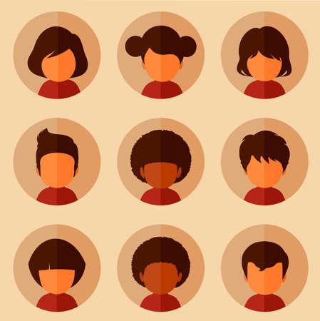 set of cartoon avatars