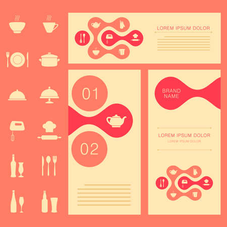 vector restaurant menu card, food background, cook chef banner design Vector