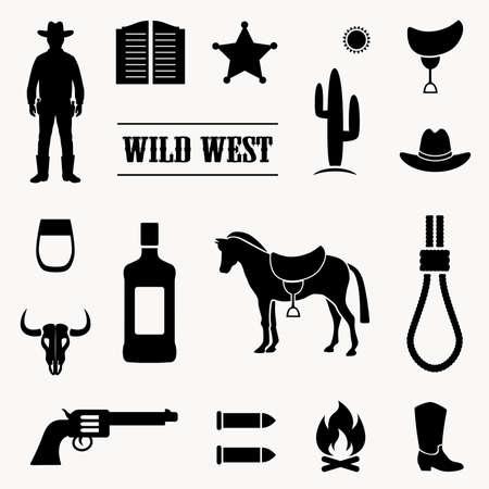 rnart: wild west vector background, western cowboy illustration,