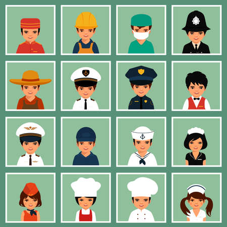 cartoon police officer: vector icon workers, profession people, cartoon vector illustration