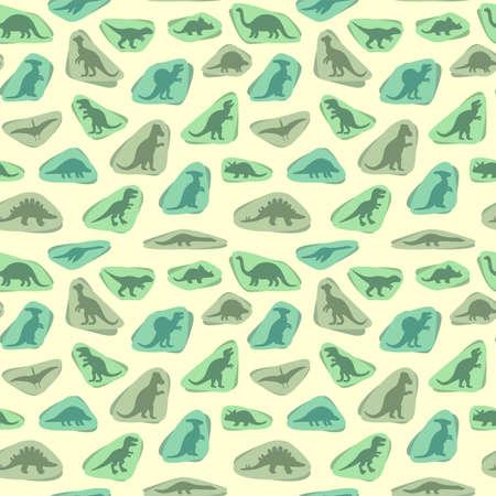 kid vector: vector conjunto de siluetas de dinosaurio, ejemplo animal, fondo retro patr�n