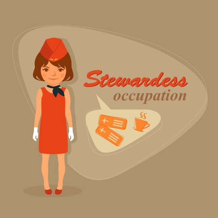 hostess: Air flight vector hostesses flight attendants, airport attendant