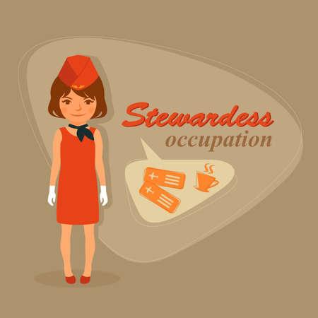 air hostess: Vol Air hôtesses vectoriels agents de bord, préposé d'aéroport