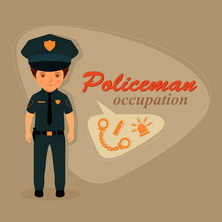 security uniform: police officer, policeman uniform, security vector illustration