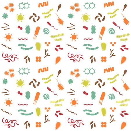 ameba: Bacterias del vector y la enfermedad del virus, iconos de biología celular,