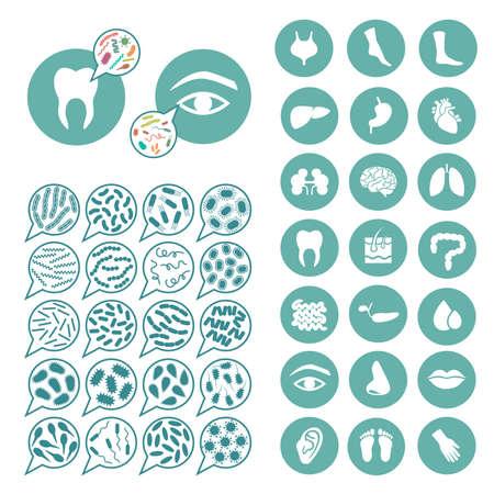 bacteria, virus infection, disease illustration
