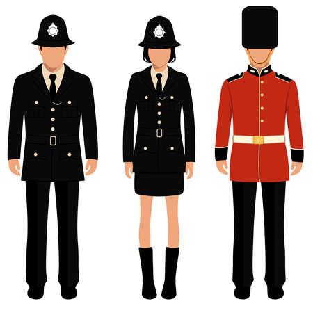 cartoon soldat: british Wache, Angielski Menschen, Vereinigtes Königreich Polizist Illustration
