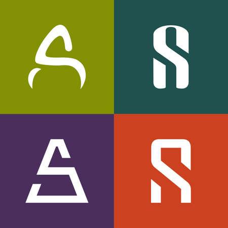 Letter icon design template elements.