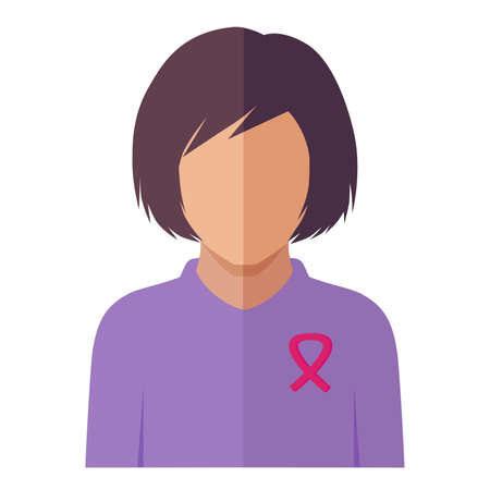 Pink ribbon of breast cancer, Cause of woman, female disease