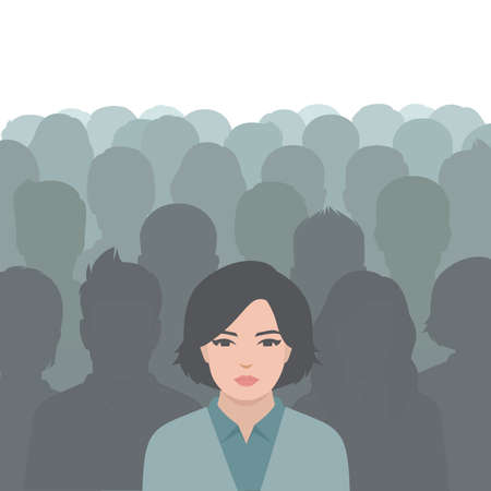 Person in crowd Illustration