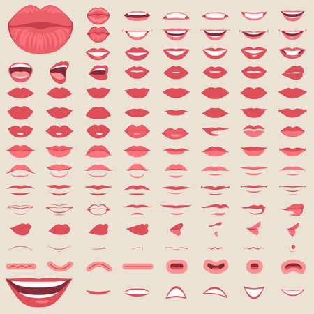 Verschillende vectorillustratie van lippen
