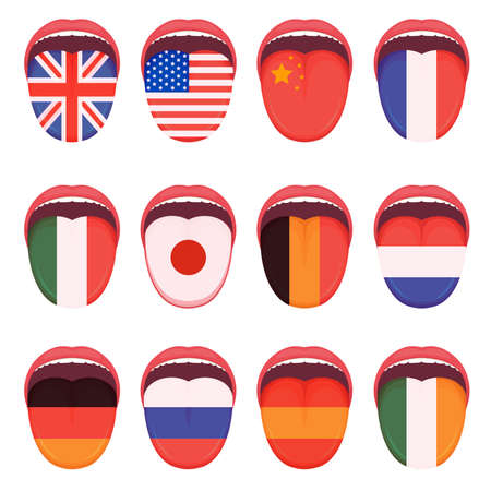 Illustration of different country flags.