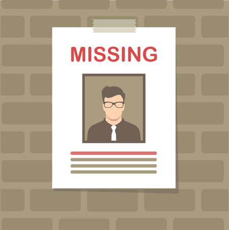 Missing person icon. Illustration