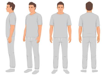 Sportswear fashion for men vector illustration
