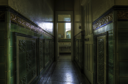 edwardian: Edwardian Washroom in a police station wales