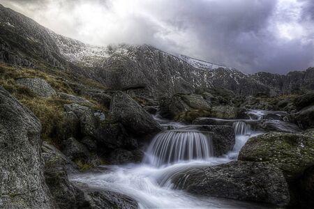 wales: Waterfalls at Ogwen Wales