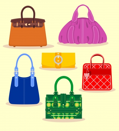 Colección de bolsos Ilustración de vector