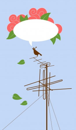 telegraph: Bird on Antenna