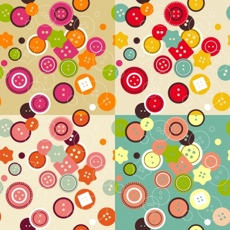 Buttons seamless pattern Stock Vector - 20170186