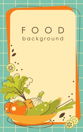 Food background with vegetables and blank space for your text