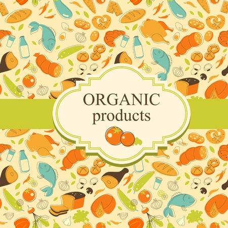 produits alimentaires: fond de l'alimentation avec des denrées alimentaires et espace pour votre texte