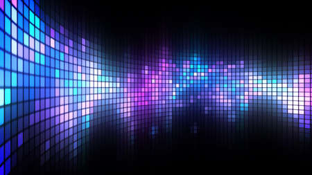Abstract colorful led screen background for party,holidays,fash ion,dance and celebration. 8K Ultra HD Resolution at 300dpi Stockfoto